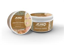 NaturMed маска для лица «Желтая глина» увлажняющая с потягивающим эффектом, 250 мл