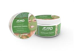 NaturMed маска для лица «Зеленая глина» обновляющая с коллагеном, 250 мл