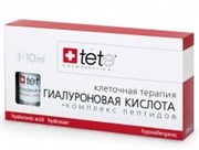 Tete Cosmeceutical Hyaluronic Acid & Peptides – Гиалуроновая кислота + комплекс пептидов, 3 х 10 мл