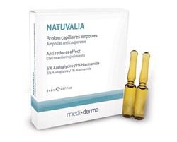 Mediderma Natuvalia – Антикупероз-концентрат в ампулах Медидерма Натувалия, 5 шт. по 2 мл - фото 11657