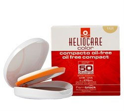 Cantabria Labs (IFC) Heliocare Color Oil-Free Compact SPF 50 Sunscreen (Fair) – Крем-пудра компактная с SPF 50 для жирной и комбинированной кожи (cветлый натуральный), 10 г - фото 11894