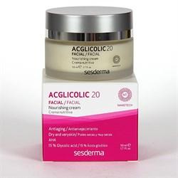Sesderma Acglicolic 20 Facial Nourishing Cream – Крем питательный с гликолевой кислотой Агликолик 20, 50 мл - фото 12920