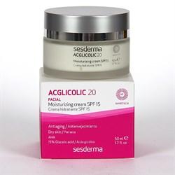 Sesderma Acglicolic 20 Facial Moisturizing Cream SPF 15 – Крем увлажняющий с гликолевой кислотой СЗФ 15 Агликолик 20, 50 мл - фото 12927