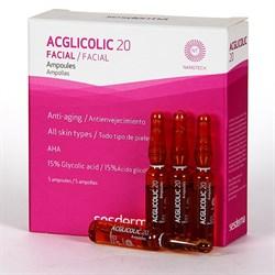 Sesderma Acglicolic 20 Facial Ampoules – Cредство в ампулах интенсивное увлажняющее, омолаживающее Агиколик 20, 5 шт. по 2 мл - фото 12930