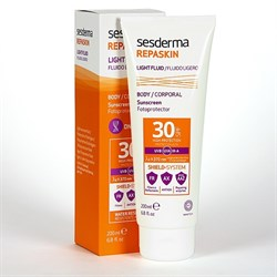 Sesderma Repaskin Light Fluid Body  Sunscreen Fotoprotector SPF 30 –  Флюид солнцезащитный для тела СЗФ 30 Репаскин, 200 мл - фото 13086