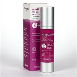 Sesderma Resveraderm Facial Concentrated Anti-aging – Концентрат омолаживающий антиоксидантный для лица Резверадерм, 50 мл - фото 13199