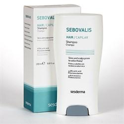 Sesderma Sebovalis Hair Treatment Shampoo – Шампунь терапевтический с себорегулирующим действием Себовалис, 200 мл - фото 13253