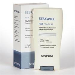 Sesderma Seskavel Oily Hair Dandruff Shampoo – Шампунь от перхоти для жирных волос Сескавел, 200 мл - фото 13420