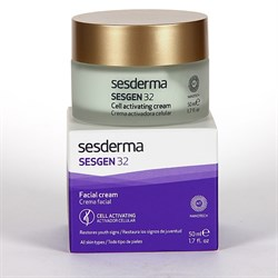 Sesderma Sesgen 32 Facial Cell Activating Cream – Крем клеточный активатор для лица Сесген 32, 50 мл - фото 13475