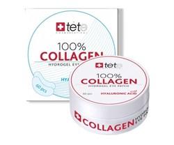 Tete Cosmeceutical 100% Collagene Hydrogel Eye Patch – Гидроколлагеновые патчи под глаза с гиалуроновой кислотой, 60 шт. - фото 14058