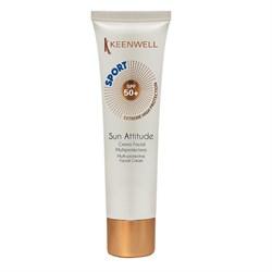 Keenwell Sun Attitude Multi-Protective Facial Cream Sport SPF 50+ – Крем мультизащитный для лица (формула спорт) СЗФ 50+, 60 мл - фото 14139