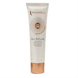Keenwell Sun Attitude Multi-Protective Facial Cream SPF 50 – Крем мультизащитный для лица СЗФ 50, 60 мл - фото 14140