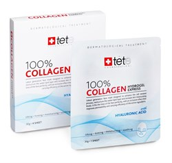 Tete Cosmeceutical 100% Collagene Hydrogel Mask – Гидроколлагеновая SOS маска для экспресс-ухода, саше 4 шт. - фото 14325