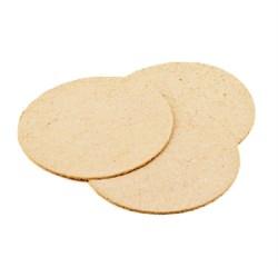 Спонж-губка для умывания натуральная круглая 10 х 90 мм, 1 шт. - фото 14594