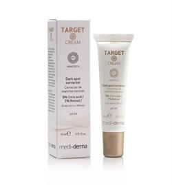 Mediderma Target Cream Corrector – Крем-корректор темных пятен липосомальный Медидерма Таргет, 15 мл - фото 14910