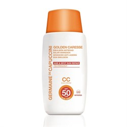 Germaine de Capuccini Golden Caresse Advanced Anti-Ageing Sun Emulsion SPF 50 СС – СС-эмульсия антивозрастная тональная SPF 50, 50 мл - фото 15006