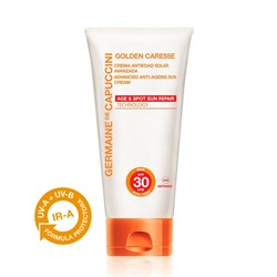 Germaine de Capuccini Golden Caresse Advanced Anti-Ageing Sun Cream SPF 30 – Крем солнцезащитный антивозрастной усиленный СЗФ 30, 50 мл - фото 15011