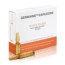 Germaine de Capuccini Options Shock Fluids Photo-Aged Recovery – Сыворотка восстановления кожи лица и борьбы с фотостарением, 10х1,5 мл - фото 16159