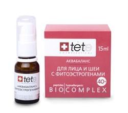 Tete Cosmeceutical Биокомплекс-аквабаланс для лица, шеи с фитоэстрогенами 40+, 15 мл - фото 8074