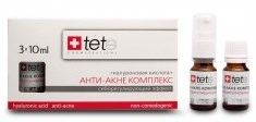 Tete Cosmeceutical Hyaluronic Acid + Anti-Acne Complex – Гиалуроновая кислота + анти-акне комплекс, 3 х 10 мл - фото 8080