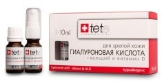 Tete Cosmeceutical Hyaluronic Acid + Calcium & Vitamin D – Гиалуроновая кислота + кальций и витамин D, 3 х 10 мл - фото 8081