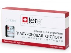 Tete Cosmeceutical Hyaluronic Acid & Peptides – Гиалуроновая кислота + комплекс пептидов, 3 х 10 мл - фото 8085