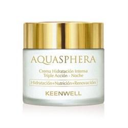 Keenwell Aquasphera – Интенсивно увлажняющий крем тройного действия ночной Аквасфера, 80 мл - фото 8117