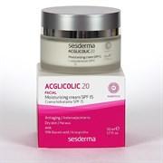 Sesderma Acglicolic 20 Facial Moisturizing Cream SPF 15 – Крем увлажняющий с гликолевой кислотой СЗФ 15 Агликолик 20, 50 мл