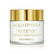 Keenwell Aquasphera Moisturizing Multi-Protective Cream-Night – Интенсивно увлажняющий крем тройного действия ночной Аквасфера, 80 мл